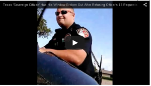 "Officer in Addison, TX, stopping a ""sovereign citizen"" wackjob for speeding."