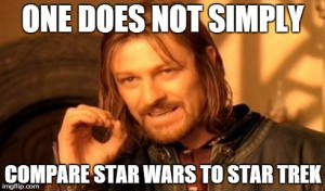 Boromir star wars-star trek meme demonstrates diversity