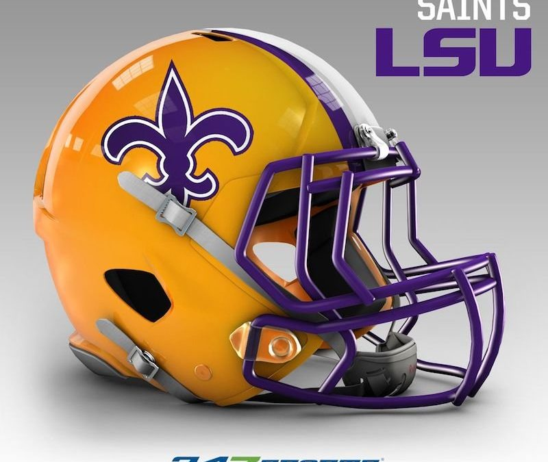 New Orleans Saints – LSU Purple-and-Gold? That's an abomination.